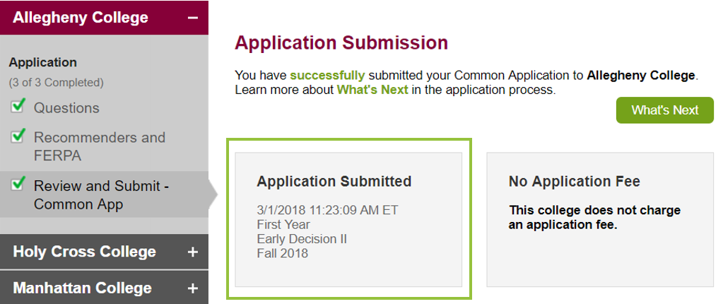 Where Can I View My Applications Submission Date And Time