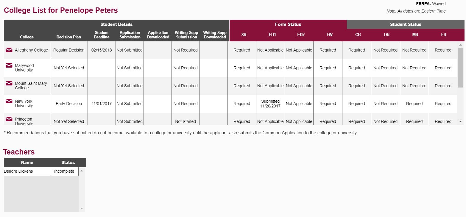 How can I check a student's application status or find more