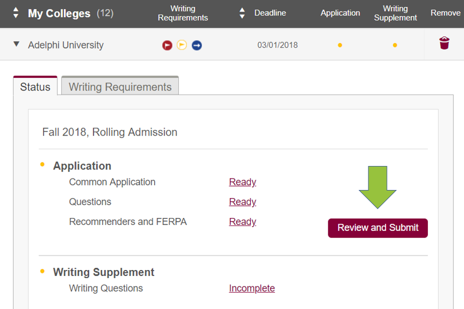 common application transfer college report